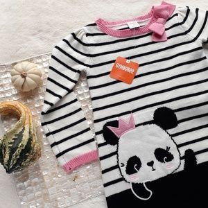 Gymboree Panda Princess Stripe Sweater Fall Dress